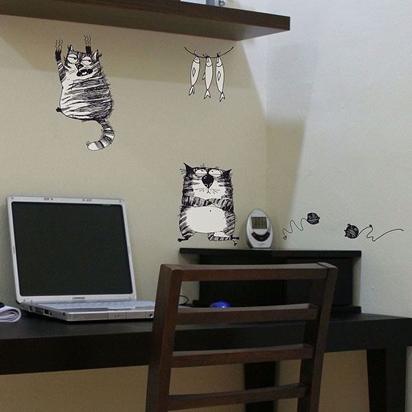 Picture of Ink Cats  Wall Decals