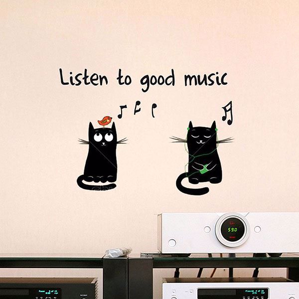 Picture of Good Music  Wall Quote Decals