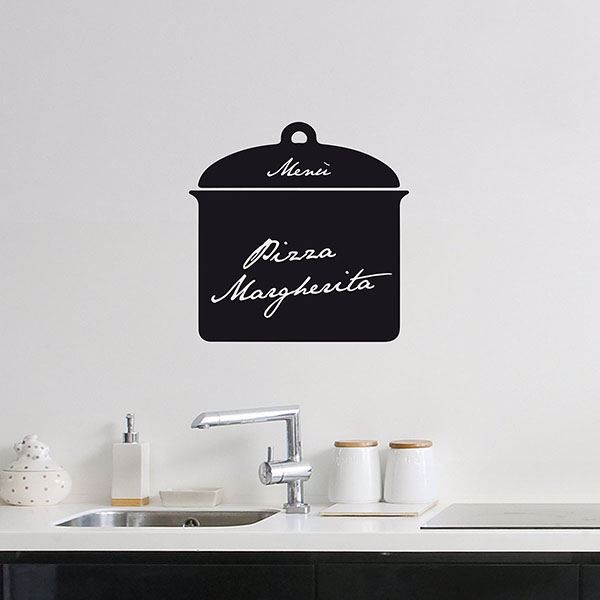 Picture of Sauce Pot Chalkboard  Wall Decals