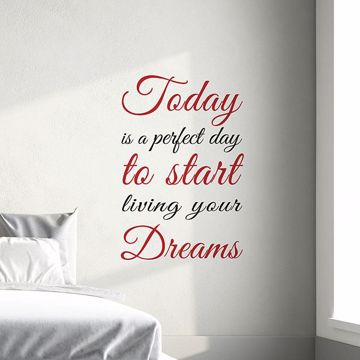 Picture of Today Dreams  Wall Quote Decals