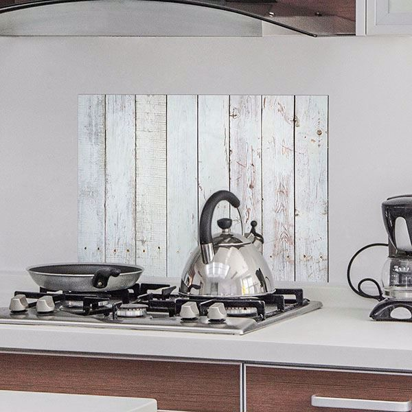 Picture of White Wood  Kitchen Panels