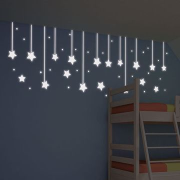 Picture of Hanging Stars Glow in the Dark  Wall Decals