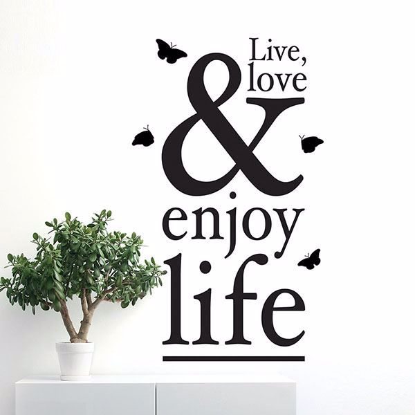 Picture of Enjoy Life  Wall Quote Decals