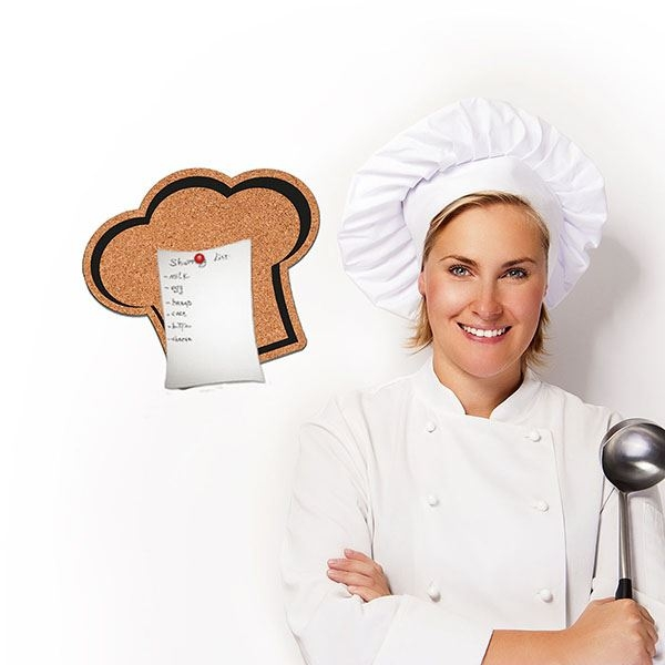Picture of Chef's Hat Cork Decal Pin Board
