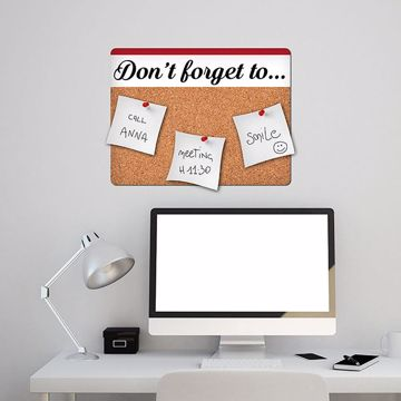 Picture of Don't Forget Cork Decal Pin Board