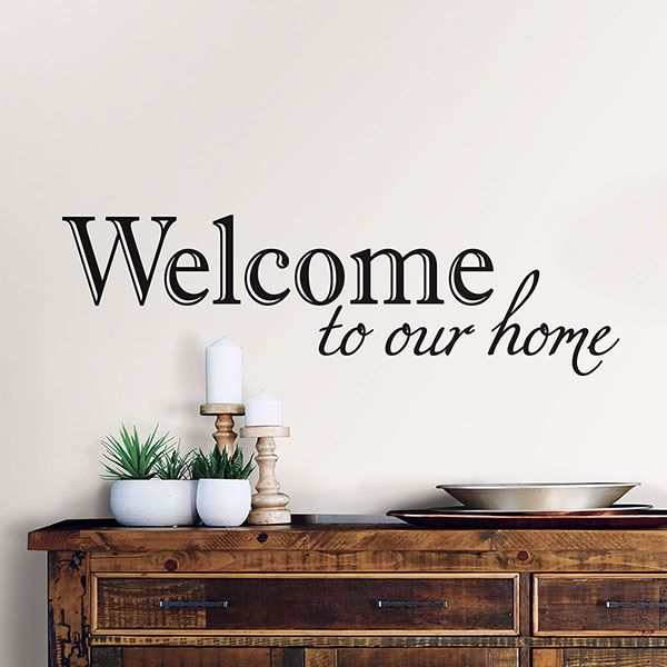 Picture of Welcome Wall Quote Decals
