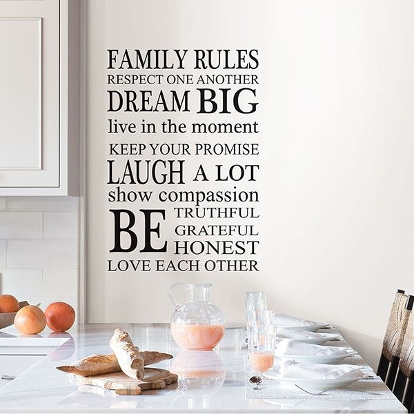 Picture of Family Rules Wall Art Kit