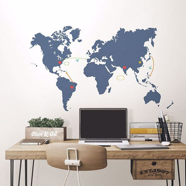 Picture of Destination World Map Wall Art Kit