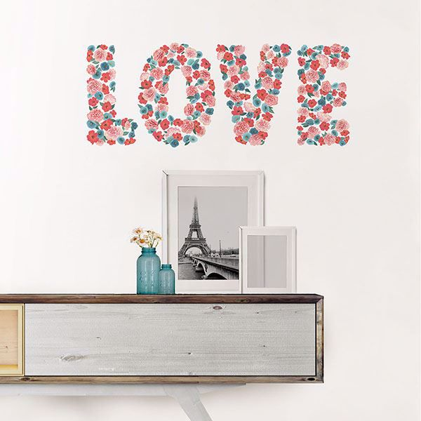 Picture of Love Wall Quote Decals
