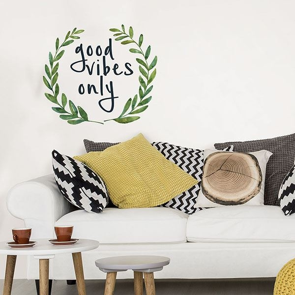 Picture of Good Vibes Only Wall Quote Decals