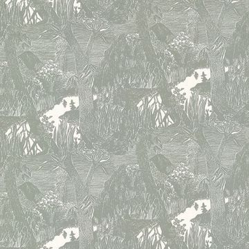 Picture of Moominvalley Dark Grey Forest Wallpaper