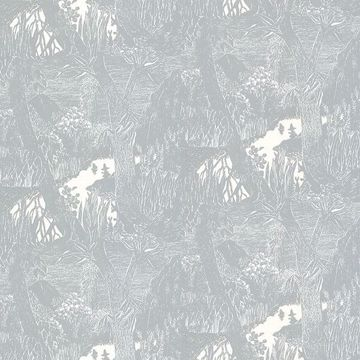 Picture of Moominvalley Light Grey Forest Wallpaper