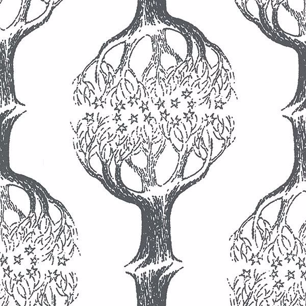 Picture of Celesta Grey Tree Wallpaper