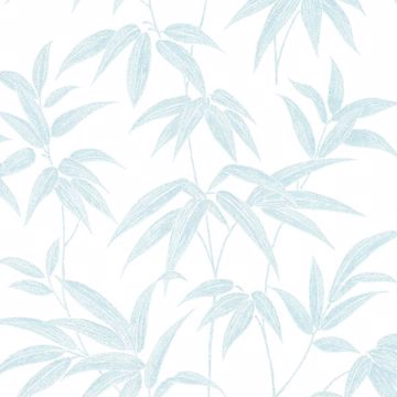 Picture of Sasa Blue Bamboo Leaf Wallpaper