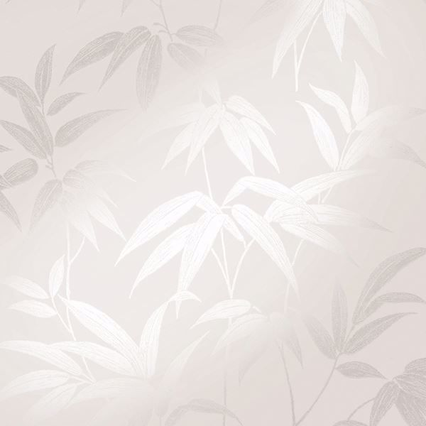Picture of Sasa Beige Bamboo Leaf Wallpaper
