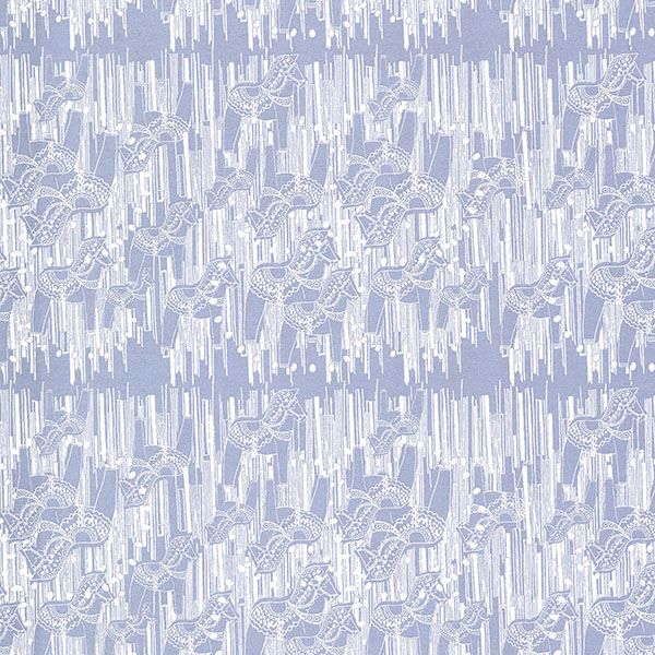 Picture of Dala Blue Horse Wallpaper