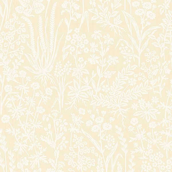 Picture of Brianne Yellow Botanical Wallpaper