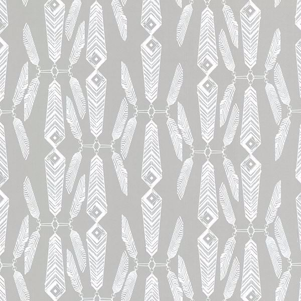 Picture of Lainey Grey Feather Wallpaper