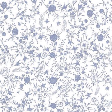 Picture of Gulia Blue Botanical Wallpaper