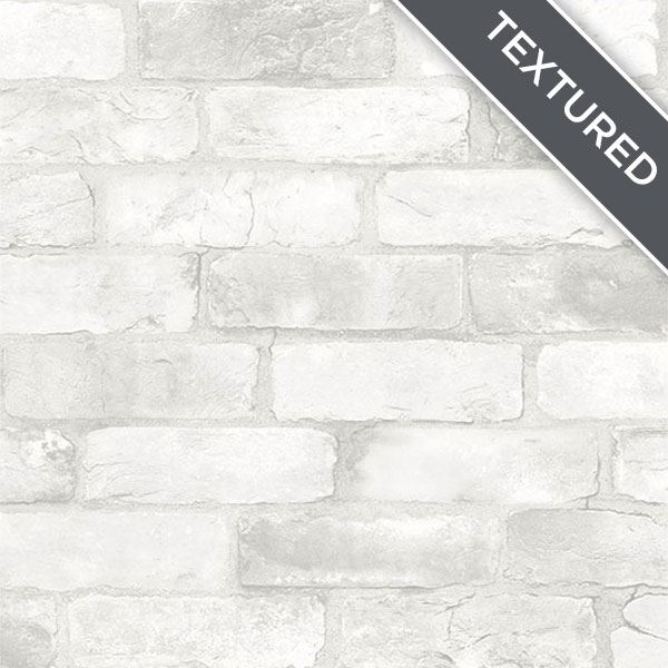 Nu2218 Loft White Brick Peel And Stick Wallpaper By Nuwallpaper