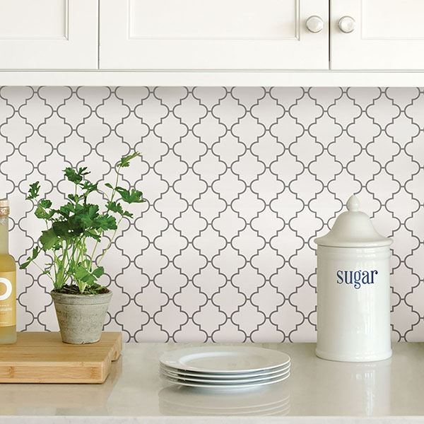 Picture of Quatrefoil Peel and Stick Backsplash