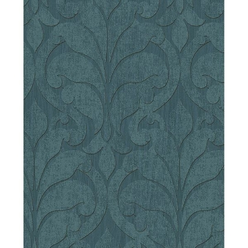 Picture of Damask Teal Vallon Wallpaper