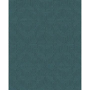 Picture of Geometric Teal Kairo Wallpaper