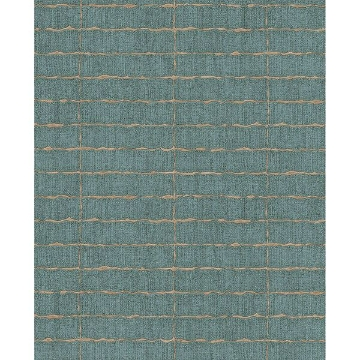 Picture of Brick Teal Batna Wallpaper