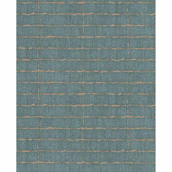 Picture of Brick Teal Batna Wallpaper