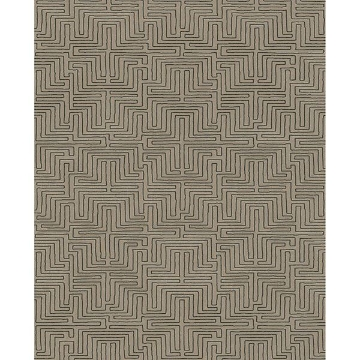 Picture of Geometric Brown Kairo Wallpaper