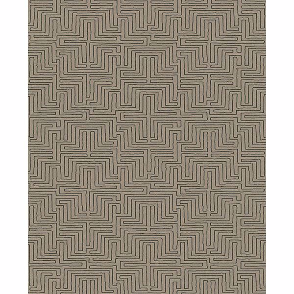 Picture of Geometric Brown Kairo Wallpaper