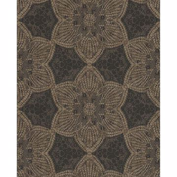 Picture of Medallion Brown Seychelles Wallpaper