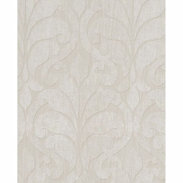 Picture of Damask Khaki Vallon Wallpaper