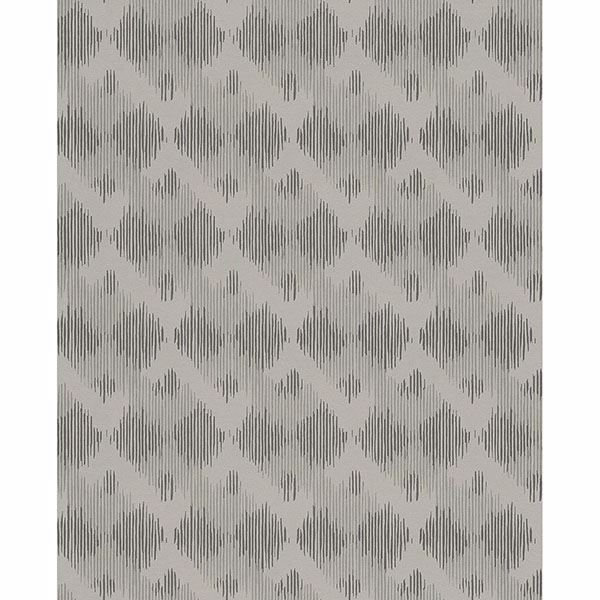 Picture of Geometric Grey Bechar Wallpaper