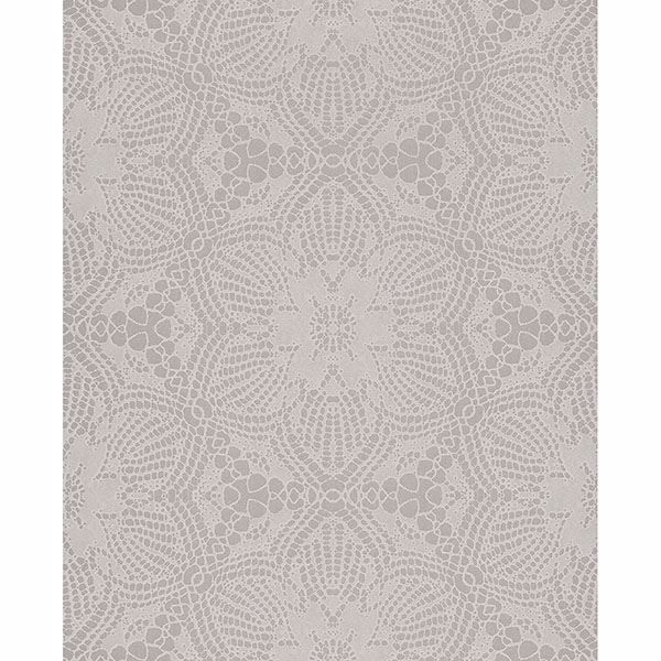Picture of Medallion Grey Seychelles Wallpaper