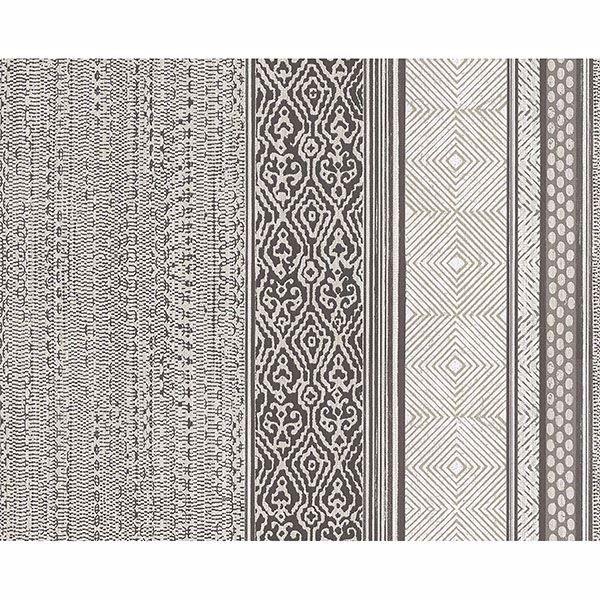 Picture of Stripe Brown Setif Wallpaper