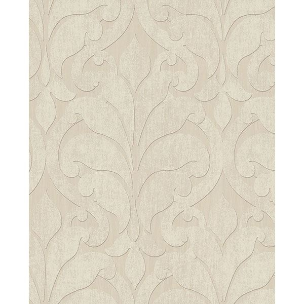 Picture of Damask Beige Vallon Wallpaper