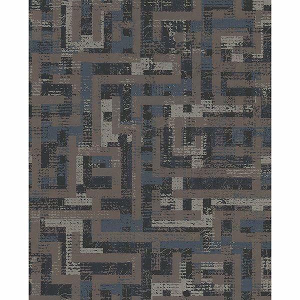 Picture of Geometric Dark Brown Tebessa Wallpaper