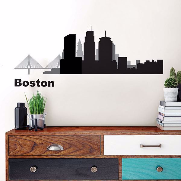 Picture of Boston Cityscape  Wall Art Kit