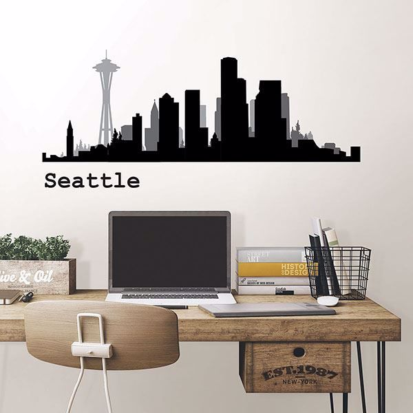 Picture of Seattle Cityscape  Wall Art Kit