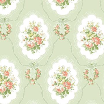 Picture of Elda Green Cameo Wallpaper