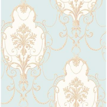 Picture of Lucinda Blue Cameo Wallpaper