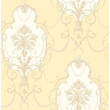 Picture of Lucinda Yellow Cameo Wallpaper