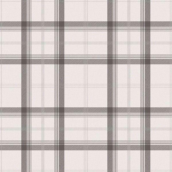 Picture of Cambridge Black Plaid Wallpaper