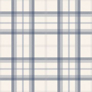 Picture of Cambridge Blue Plaid Wallpaper