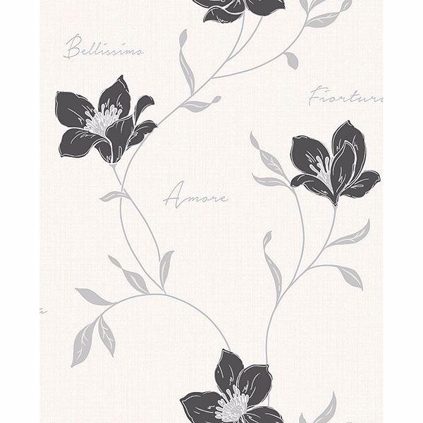 Picture of Mischa Black Floral Wallpaper