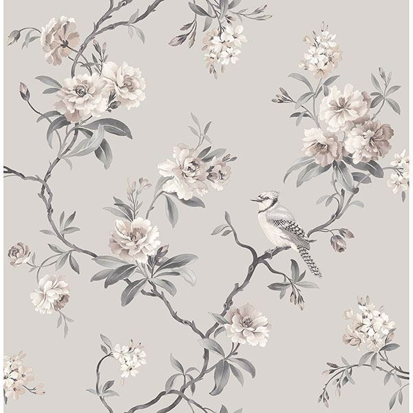 Picture of Chinoiserie Stone Floral Wallpaper