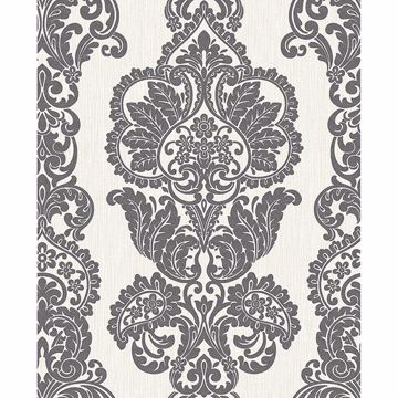 Picture of Rochester Charcoal Damask Wallpaper