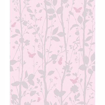 Picture of Dazzle Meadow Pink Butterfly Wallpaper