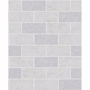Picture of Ceramica Grey Subway Tile Wallpaper